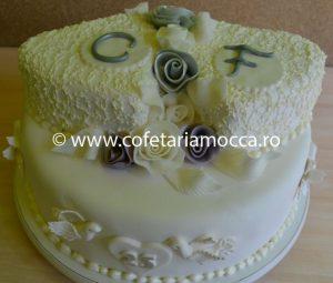 Tort Pentru Nunta De Argint Cod 116 Ta Cofetăria Sweet Mocca Oradea