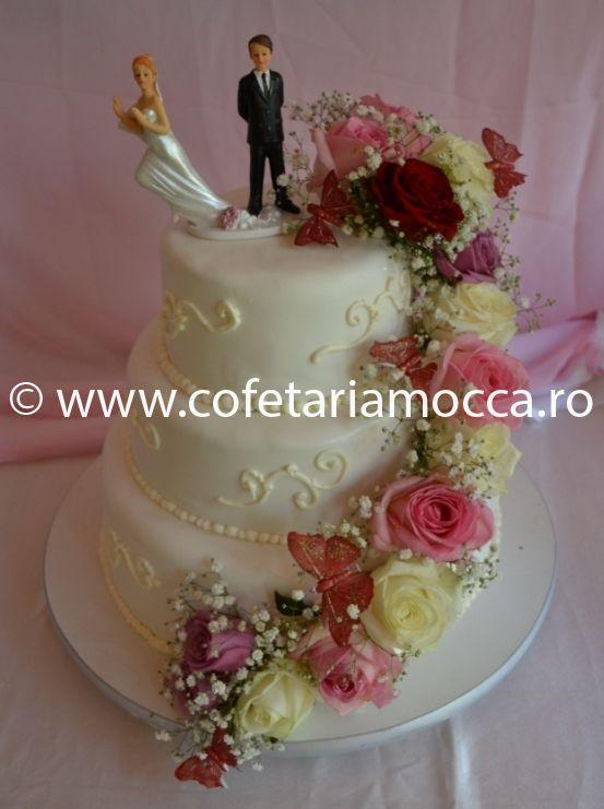 Tort De Nunta Flori Naturale Cod 049 Nm Cofetăria Sweet Mocca Oradea