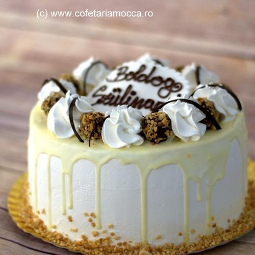 Glazura tort alba