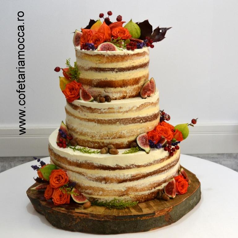 Tort Nunta Naked De Toamna 023 Nfr Cofetăria Sweet Mocca Oradea
